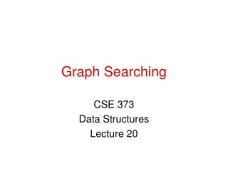Graph Searching