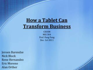 How a Tablet Can Transform Business