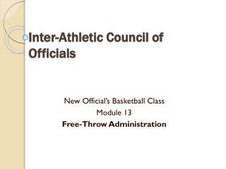 Inter-Athletic Council of Officials