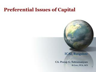 Preferential Issues of Capital