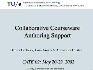 Collaborative Courseware Authoring Support