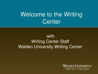 Welcome to the Writing Center