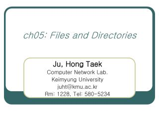ch05: Files and Directories