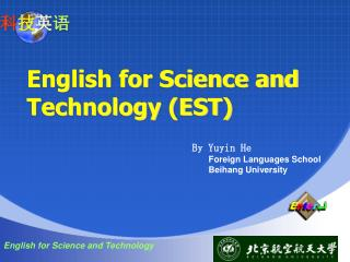 English for Science and Technology (EST)