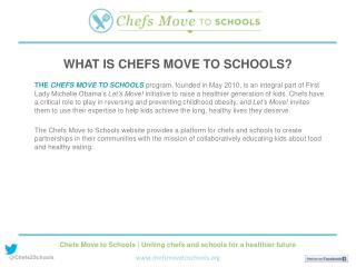WHAT IS CHEFS MOVE TO SCHOOLS?