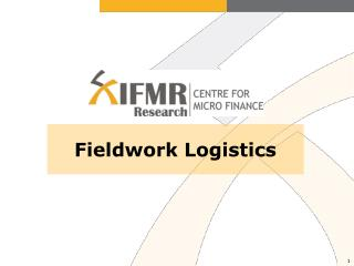 Fieldwork Logistics