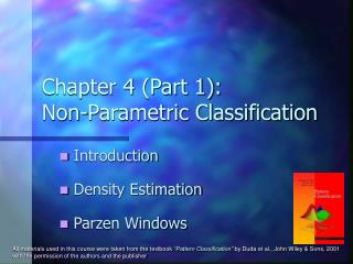 Chapter 4 (Part 1): Non-Parametric Classification