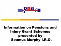 Information on Pensions and Injury Grant Schemes presented by    Seamus Murphy I.R.O.