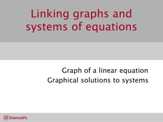 Linking graphs and systems of equations