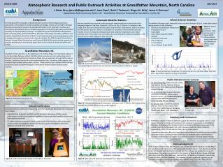 Atmospheric  Research and Public Outreach Activities at Grandfather Mountain, North Carolina