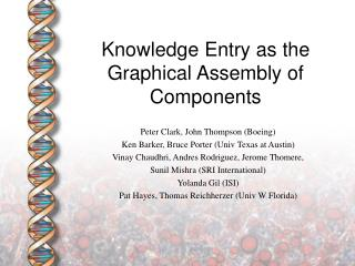 Knowledge Entry as the Graphical Assembly of Components
