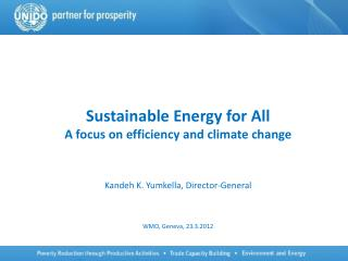 Sustainable Energy for All A focus on efficiency and climate change