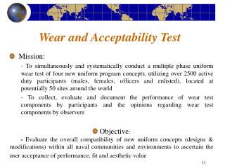 Wear and Acceptability Test