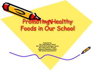 Promoting Healthy Foods in Our School