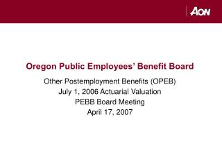 Oregon Public Employees' Benefit Board