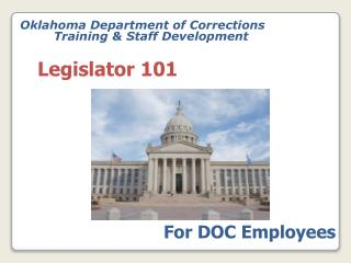 Oklahoma Department of Corrections 	Training & Staff Development
