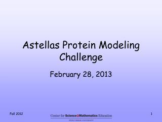 Astellas  Protein Modeling Challenge