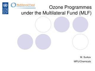 Ozone Programmes under the Multilateral Fund (MLF)
