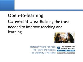 Open-to-learning Conversations :  Building the trust needed to improve teaching and learning