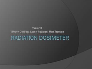 Radiation Dosimeter