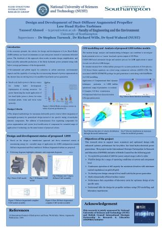 Design and Development of Duct-Diffuser Augmented Propeller  Low Head Hydro Turbines