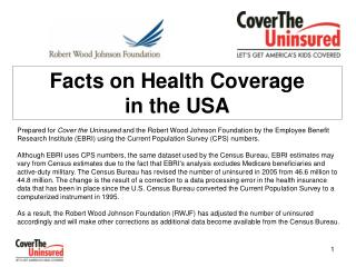 Facts on Health Coverage  in the USA