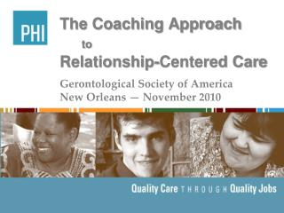 The Coaching Approach to Relationship-Centered Care