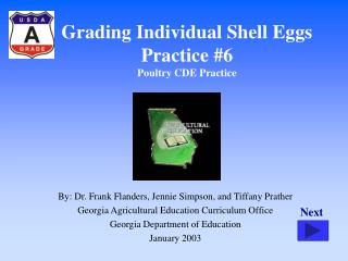 Grading Individual Shell Eggs Practice #6 Poultry CDE Practice