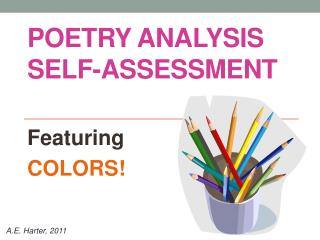 Poetry Analysis self-assessment