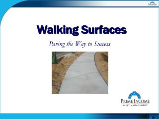 Walking Surfaces
