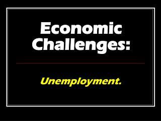 Economic Challenges: