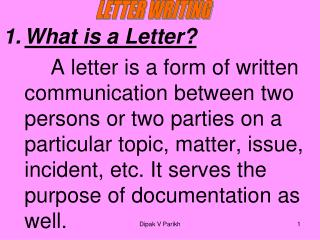 What is a Letter?