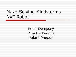Maze-Solving Mindstorms NXT Robot