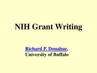 NIH Grant Writing