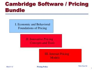 Cambridge Software / Pricing Bundle