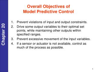 Overall Objectives of  Model Predictive Control