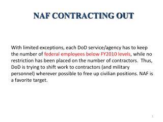 NAF CONTRACTING OUT
