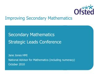 Improving Secondary Mathematics