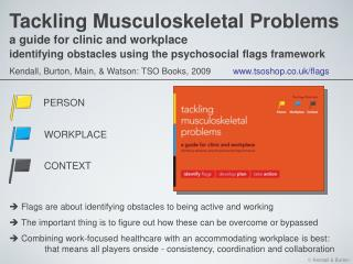 Tackling Musculoskeletal Problems a guide for clinic and workplace