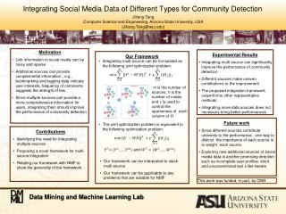 Integrating Social Media Data of Different Types for Community Detection