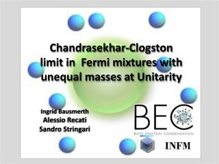 Chandrasekhar- Clogston  limit in  Fermi mixtures with  unequal masses at  Unitarity