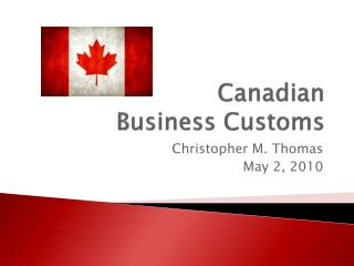 Canadian  Business Customs
