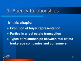 1. Agency Relationships