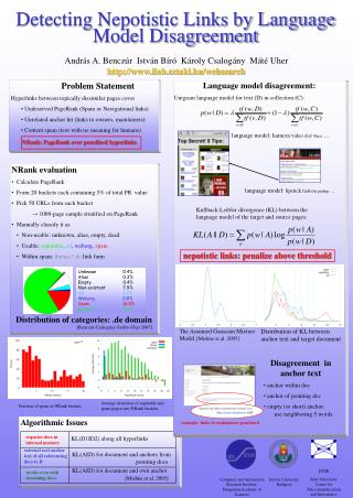 Detecting Nepotistic Links by Language Model Disagreement