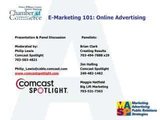 E-Marketing 101: Online Advertising