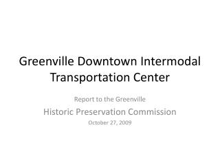 Greenville Downtown Intermodal Transportation Center