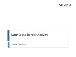 IORP Cross-border Activity