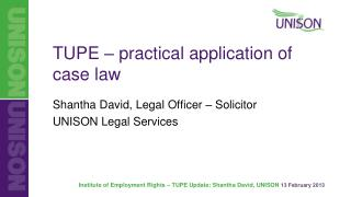 TUPE – practical application of  case law