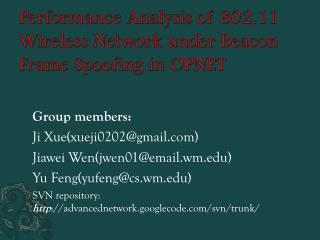 Performance  Analysis  of 802.11  Wireless Network  under  Beacon Frame Spoofing  in OPNET