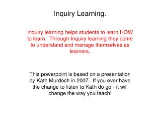 Inquiry Learning.